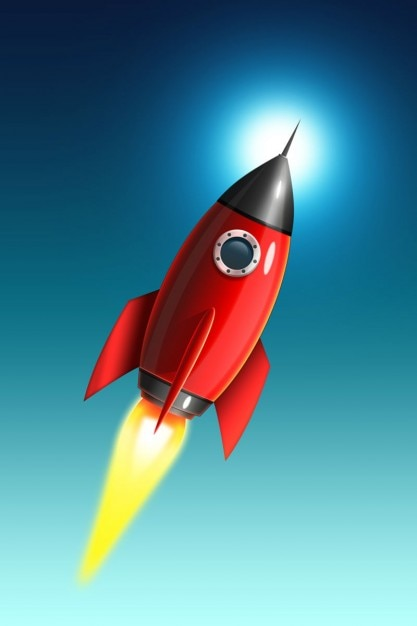 Red Rocket Icon Red rocket icon...