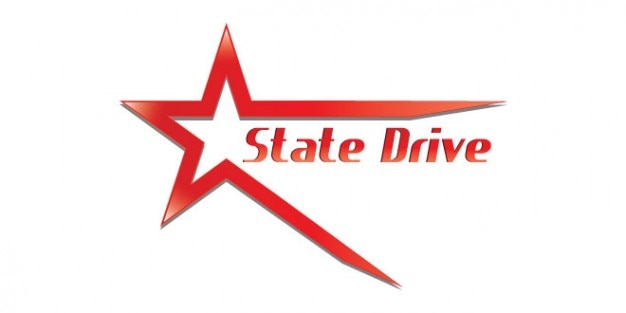 Red state drive logo design PSD file | Free Download