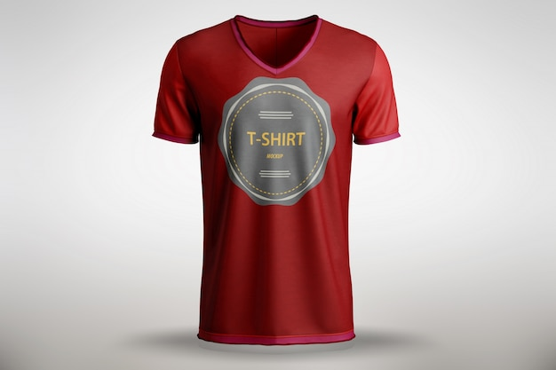 Red t-shirt mock up Free Psd