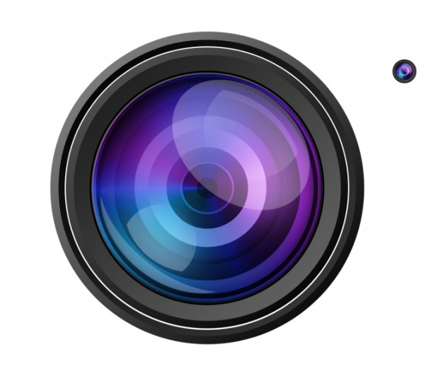 Reflective video camera focus psd Free Psd