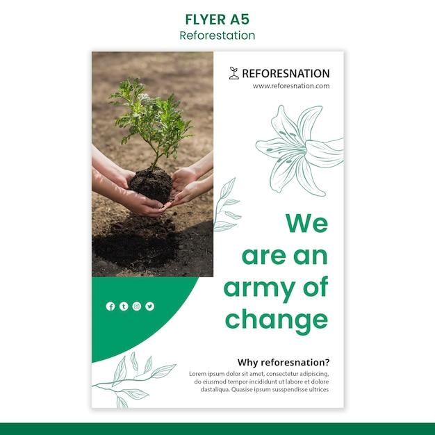 森林再生広告チラシテンプレート 無料 Psd