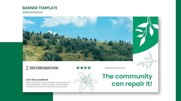 Рекламный баннер лесовозобновления Бесплатные Psd