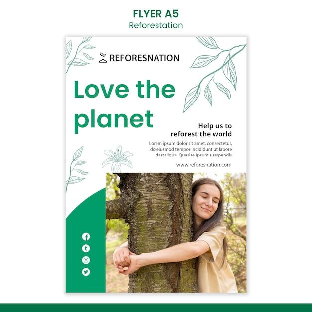森林再生広告テンプレートチラシ 無料 Psd