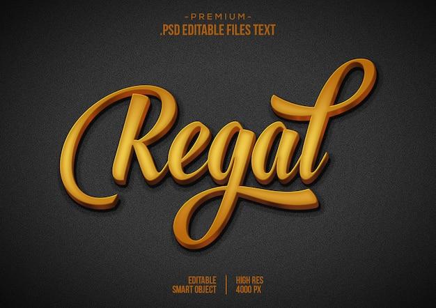 Regal text effect Premium Psd