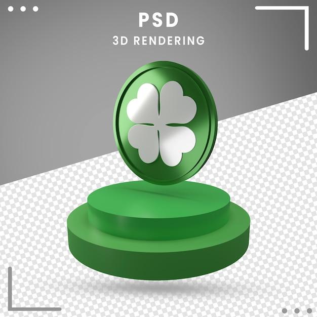 分離された聖パトリックの日の3d回転ロゴのレンダリング Premium Psd
