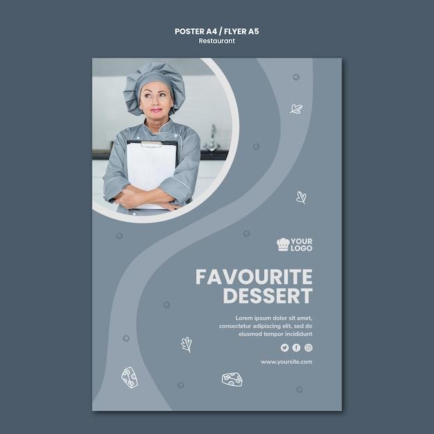 Рекламный плакат ресторана Бесплатные Psd