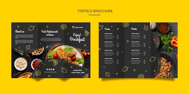 Restaurant Brochure Template from image.freepik.com
