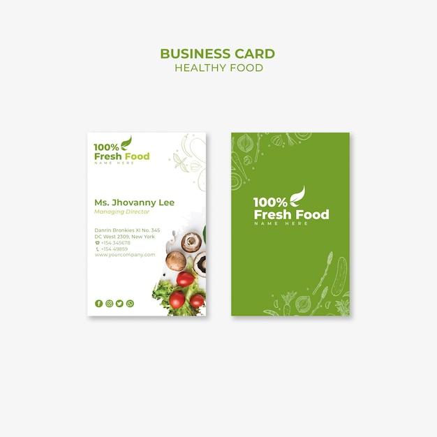 Restaurant business card pack template Free Psd