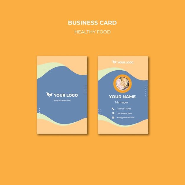 Restaurant business card template design Free Psd