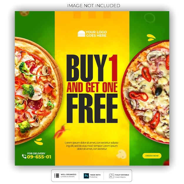 Restaurant or food menu social media post template premium psd Premium Psd
