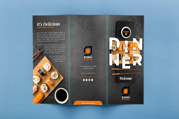 Restaurant menu concept mockup Free Psd