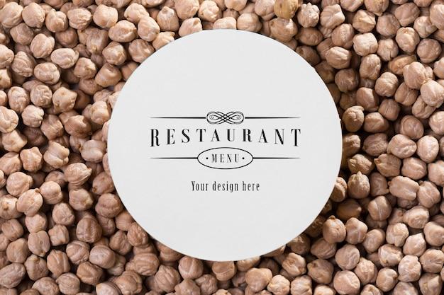 Макет меню ресторана с нутом Бесплатные Psd