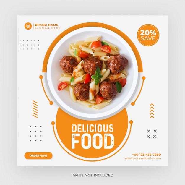 Restaurant menu social media banner template Premium Psd