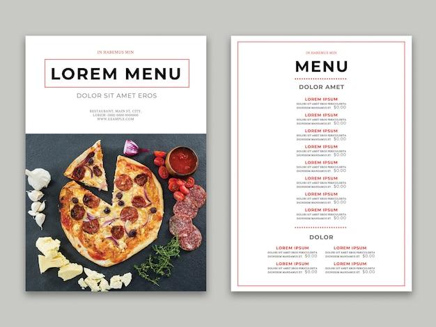 Restaurant menu Premium Psd