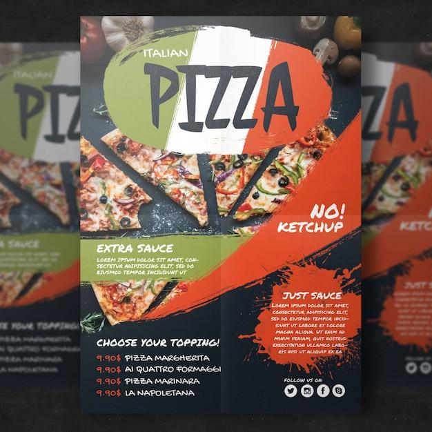 Шаблон плаката для ресторана Premium Psd