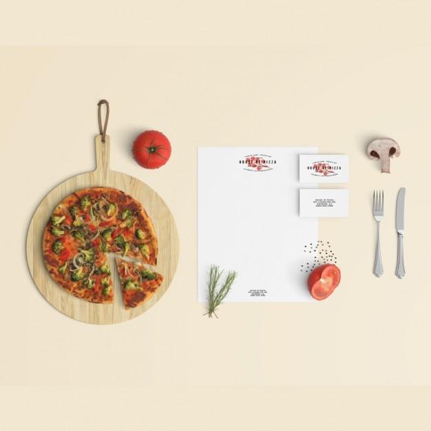 Restaurant stationery mock up Free Psd