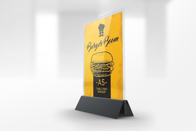 restaurant table tent mockup psd file premium download