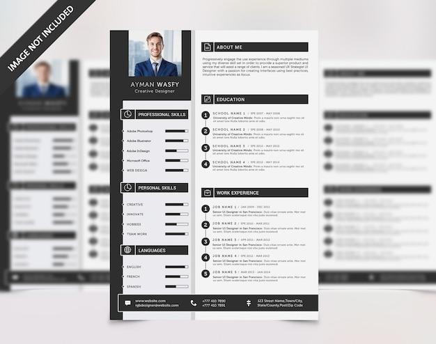 Resume cv Premium Psd