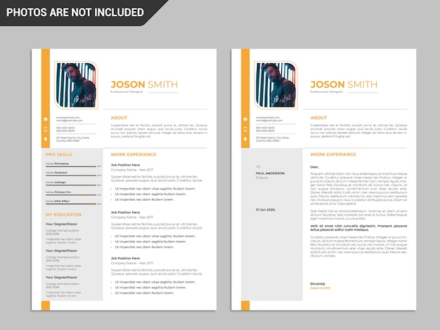 Resume template, professional resume template, creative ...