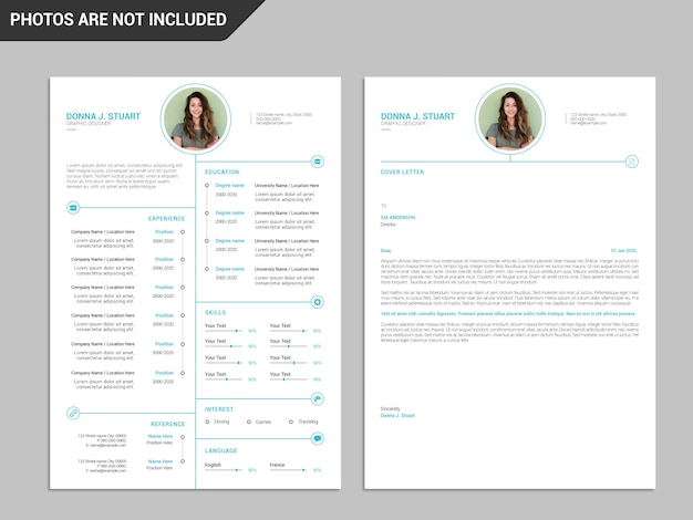 Resume template, professional resume template, creative resume, modern resume template Premium Psd
