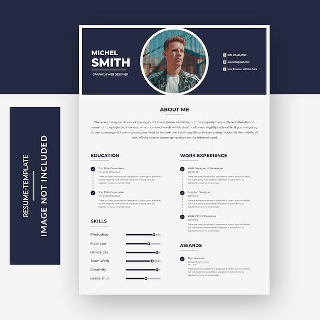 Premium PSD | Resume template