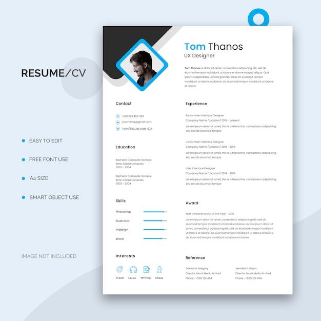 Resume template Premium Psd