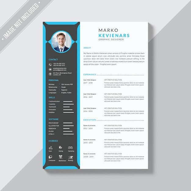 Resume template | Premium PSD File