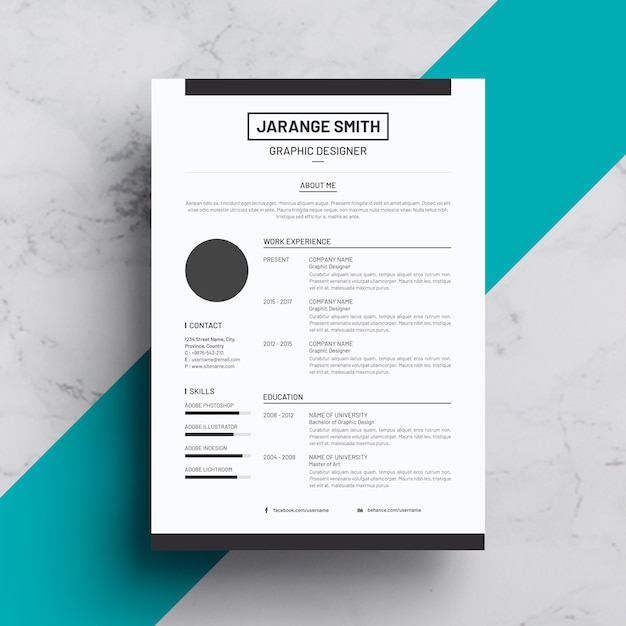 Resume Premium Psd