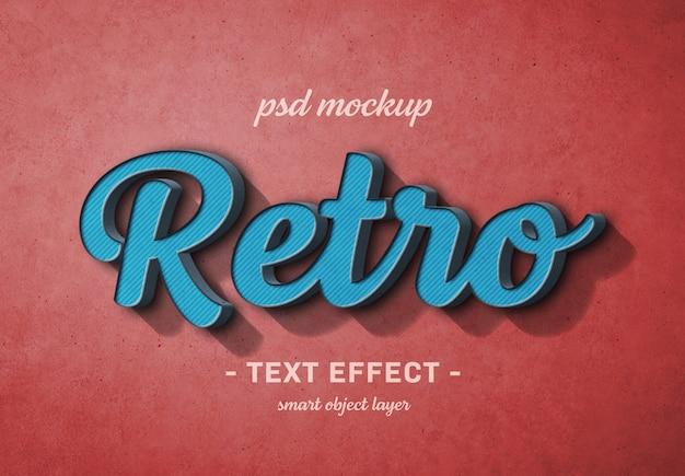 Retro 3d text effect Premium Psd