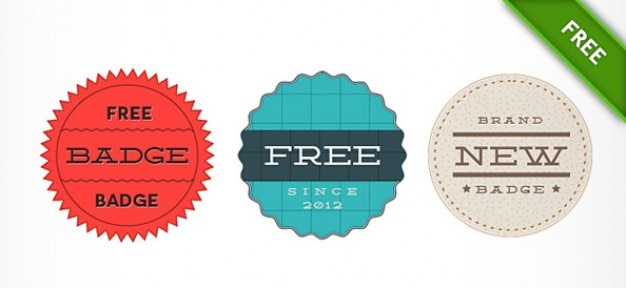 Retro Badge Psd Templates PSD File Free Download