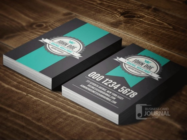 Retro business card template psd Free Psd