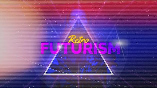 Retro futurism background Free Psd