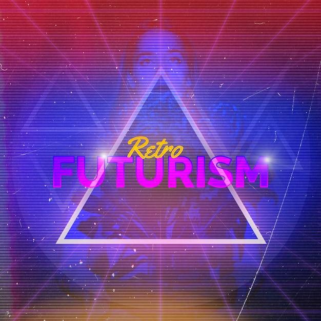 Retro sfondo del futurismo Psd Gratuite