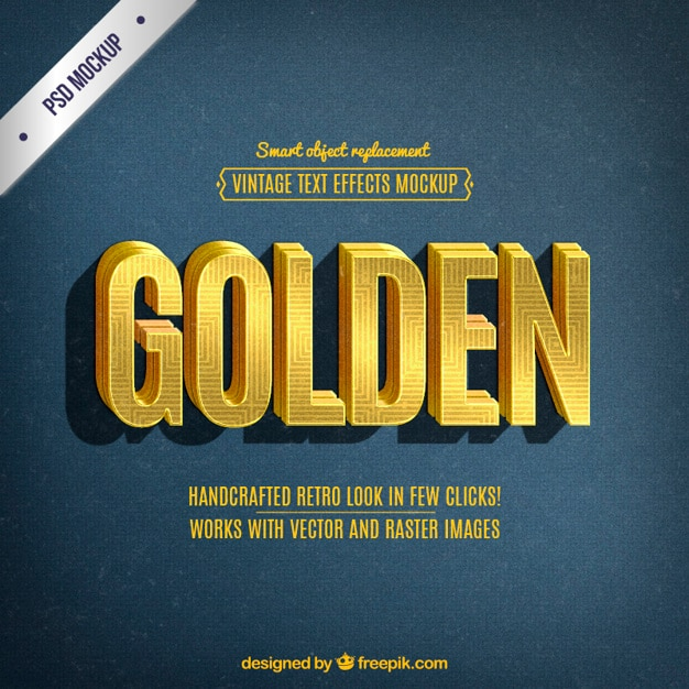 Text effects psd 60 free psd files retro golden lettering publicscrutiny Gallery