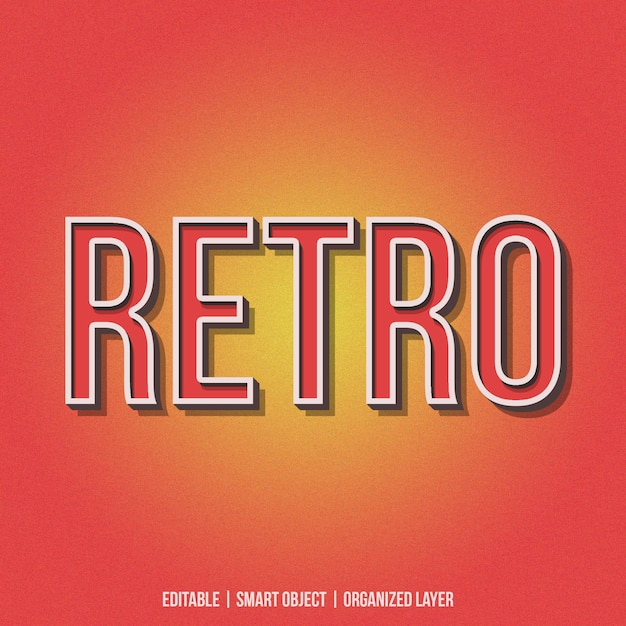 Retro text effect generator Premium Psd