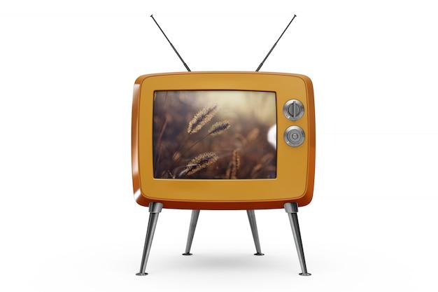 Retro tv mockup Free Psd