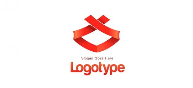 ribbon logo design template psd file free download