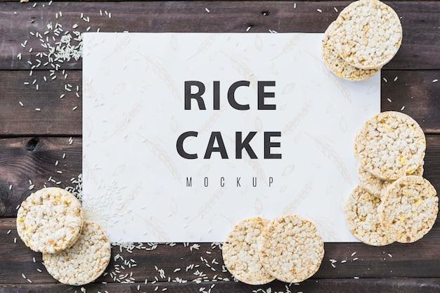 Mock-up di carte torta di riso Psd Gratuite