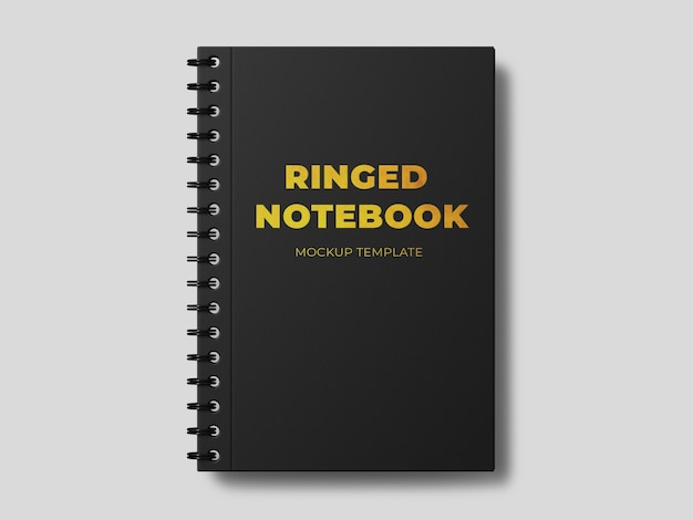Ringed notebook mockup template Free Psd
