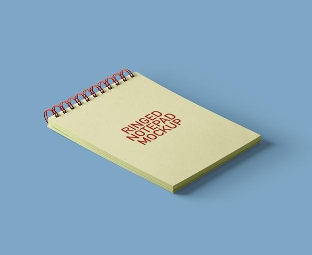 Ringed-notepad-mockup Premium Psd