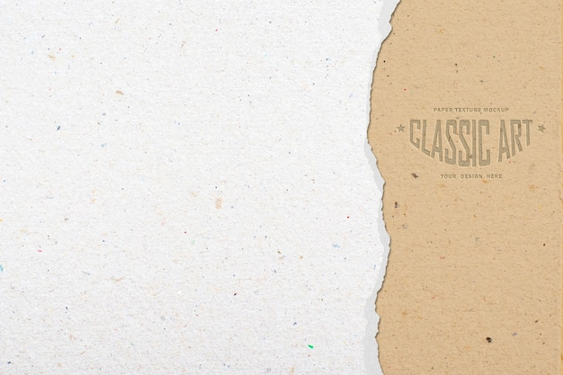 Ripped out paper texture mockup Premium Psd