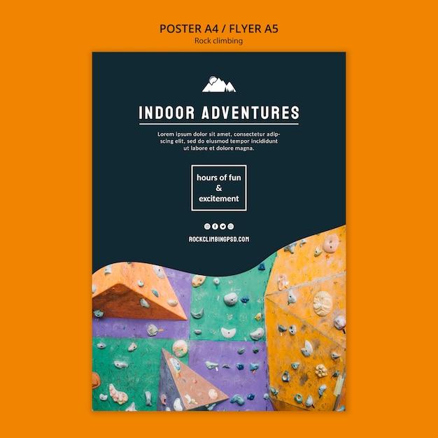 Avventure indoor in arrampicata su roccia Psd Gratuite
