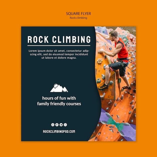 Modello di volantino quadrato di arrampicata su roccia Psd Gratuite