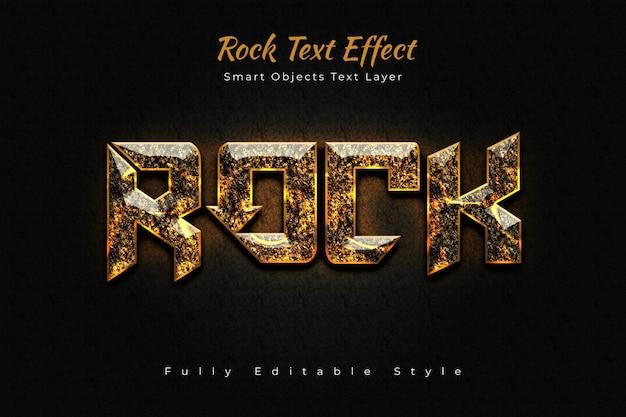 Rock text effect Premium Psd