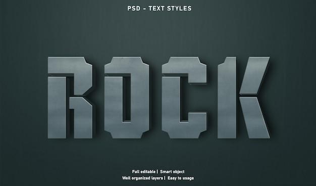 ロックテキスト効果スタイルテンプレート Premium Psd