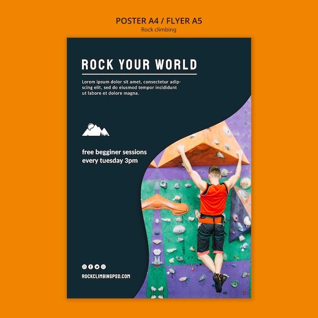 Rock modello di poster del tuo mondo Psd Gratuite