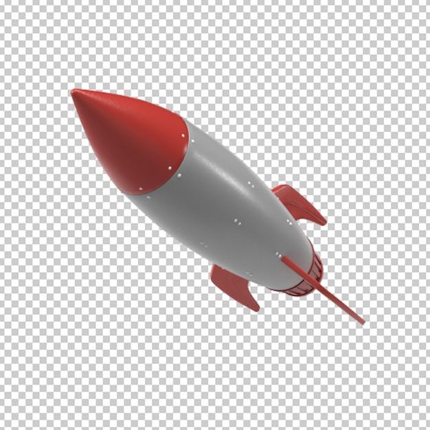 Запуск ракеты 3d-рендеринга Premium Psd