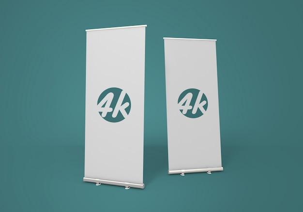 Roll-up banner mockup Premium Psd