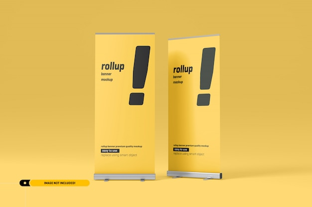 Rollup or x-banner mockup Premium Psd