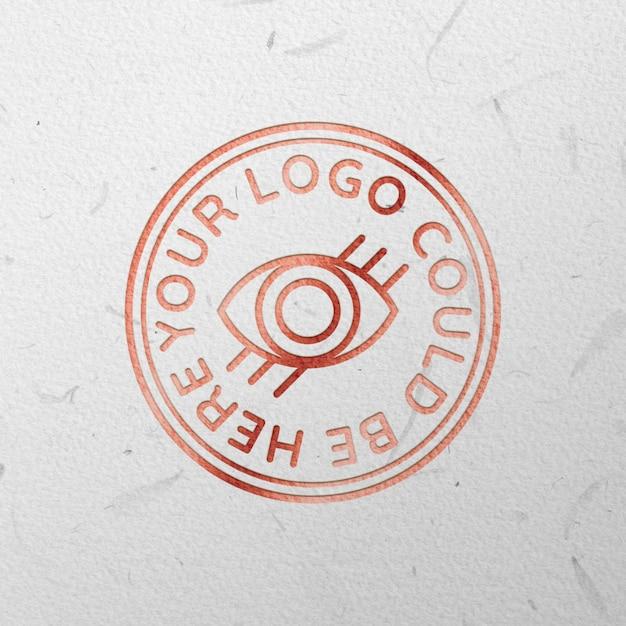 Logo inciso in oro rosa mock up Psd Gratuite